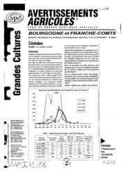 Avertissements Agricoles - Grandes cultures - Bourgogne Franche comte - 2001 - 28