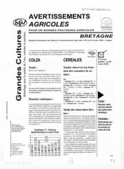 Avertissements Agricoles - Grandes cultures - Bretagne - 2006 - 4