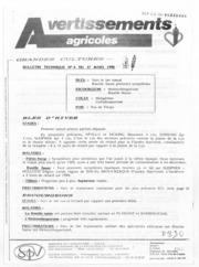 Avertissements Agricoles - Grandes cultures et Cultures légumières - Alsace - 1990 - 7