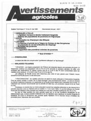 Avertissements Agricoles - Grandes cultures et Cultures légumières - Alsace - 1990 - 16