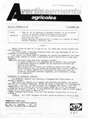 Avertissements Agricoles - Grandes cultures - Centre - 1986 - 29