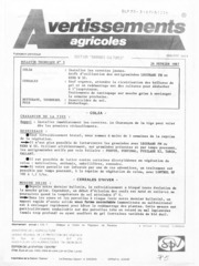 Avertissements Agricoles - Grandes cultures - Centre - 1987 - 3