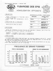Avertissements Agricoles - Grandes cultures - Centre - 1990 - 2