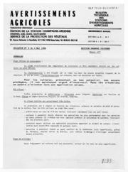 Avertissements Agricoles - Grandes cultures - Champagne Ardenne - 1984 - 7