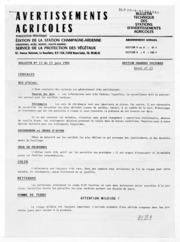 Avertissements Agricoles - Grandes cultures - Champagne Ardenne - 1984 - 12