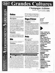 Avertissements Agricoles - Grandes cultures - Champagne Ardenne - 1998 - 8