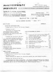 Avertissements Agricoles - Grandes cultures - Ile de France - 1981 - 7
