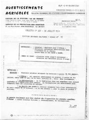 Avertissements Agricoles - Grandes cultures - Ile de France - 1984 - 11