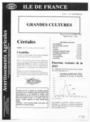 Avertissements Agricoles - Grandes cultures - Ile de France - 1994 - 26
