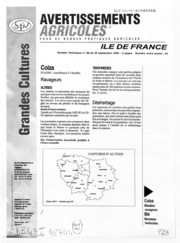 Avertissements Agricoles - Grandes cultures - Ile de France - 1998 - 27