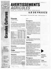 Avertissements Agricoles - Grandes cultures - Ile de France - 2002 - 14