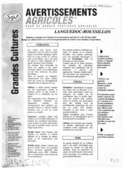 Avertissements Agricoles - Grandes cultures - Languedoc Roussillon - 2002 - 3