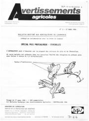Avertissements Agricoles - Grandes cultures - Languedoc Roussillon Lauragais - 1984 - 2