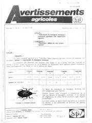 Avertissements Agricoles - Grandes cultures - Lorraine - 1986 - 26