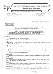 Avertissements Agricoles - Grandes cultures - Midi Pyrenees - 1983 - 9
