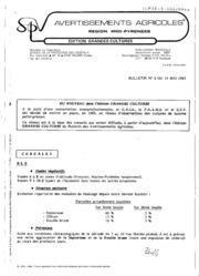 Avertissements Agricoles - Grandes cultures - Midi Pyrenees - 1985 - 8