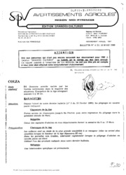 Avertissements Agricoles - Grandes cultures - Midi Pyrenees - 1989 - 4