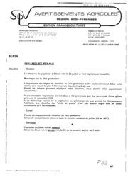Avertissements Agricoles - Grandes cultures - Midi Pyrenees - 1989 - 12