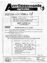 Avertissements Agricoles - Grandes cultures - Nord Pas de Calais - 1990 - 24