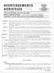 Avertissements Agricoles - Toutes cultures - PACA - 1981 - 9