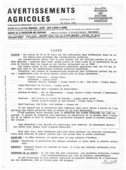 Avertissements Agricoles - Toutes cultures - PACA - 1981 - 10