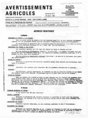 Avertissements Agricoles - Toutes cultures - PACA - 1982 - 14