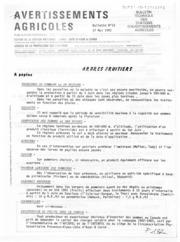 Avertissements Agricoles - Toutes cultures - PACA - 1982 - 16