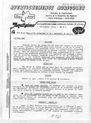 Avertissements Agricoles - Toutes cultures - Aquitaine - 1983 - 26