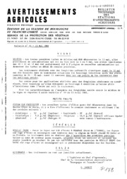 Avertissements Agricoles - Toutes cultures - Bourgogne Franche comte - 1981 - 14