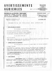 Avertissements Agricoles - Toutes cultures - Bretagne - 1982 - 28