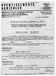 Avertissements Agricoles - Toutes cultures - Languedoc Roussillon - 1982 - 12