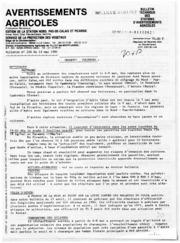 Avertissements Agricoles - Toutes cultures - Nord Pas de Calais Picardie - 1981 - 11