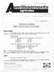 Avertissements Agricoles - Vigne - Languedoc Roussillon Limouxin - 1984 - 5
