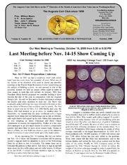 Augusta Coin Club Monthly Newsletter