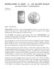 Engelhard 1Oz Bar Vs Us Silver Eagle