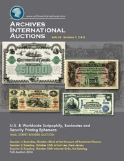 U.S. & Worldwide Scripophily, Banknotes, and Security Printing Ephemera