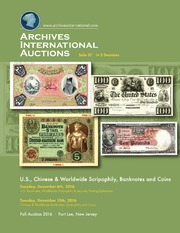 U.S., Chinese & Worldwide Scripophily, Banknotes and Coins