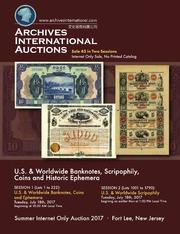 U.S. & Worldwide Banknotes, Scripophily, Coins and Historic Ephemera