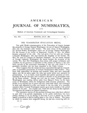 American Journal of Numismatics (Series One), Vols. 15 - 18