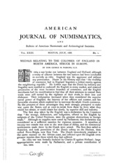 American Journal of Numismatics (Series One), Vols. 23 - 25