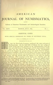 American Journal of Numismatics (Series One), Vols. 24 - 26