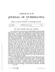 American Journal of Numismatics (Series One), Vols. 26 - 28