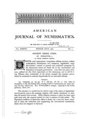 American Journal of Numismatics (Series One), Vols. 37 - 38