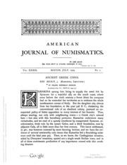 American Journal of Numismatics, Vols. 39 - 41