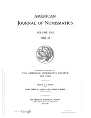 American Journal of Numismatics, Vols. 42 - 43