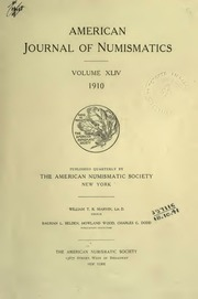 American Journal of Numismatics (Series One), Vols. 44 - 45