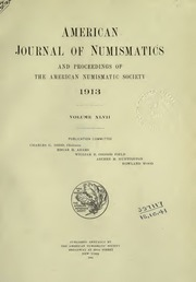 American Journal of Numismatics (Series One), Vols. 47 - 48