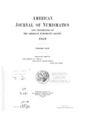 American Journal of Numismatics, Vol. 49