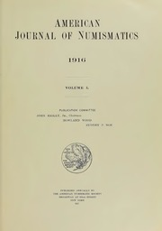 American Journal of Numismatics (Series One), Vol. 50