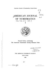 American Journal of Numismatics (Second Series), Vol. 1